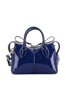 Tod's - D-Styling Micro patent leather bag in blue