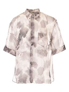 Fendi - Floral pattern shirt in grey and white