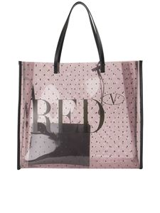 Red Valentino - Point d'esprit shopping bag in pink