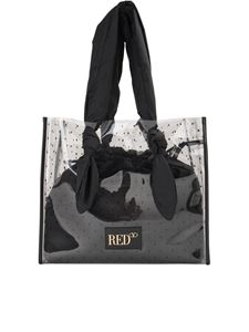 Red Valentino - Point d'esprit shopping bag in black