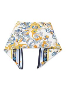Versace Jeans Couture - Versailles print silk scarf in white
