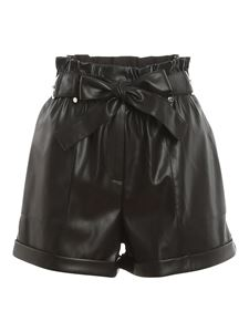 Patrizia Pepe - Faux leather high-waist shorts