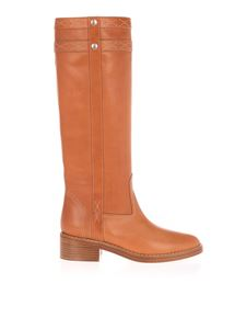 Celine - Leather boots in camel color