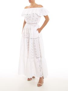 Parosh - Broderie anglaise cotton dress in white