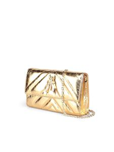 Patrizia Pepe - Quilted gold crossbody bag