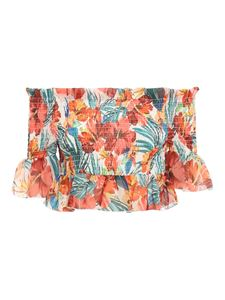 Patrizia Pepe - Floral print crop off-shoulder top