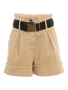 Patrizia Pepe - High-waisted cotton shorts