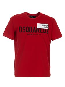 Dsquared2 - Printed T-shirt in red
