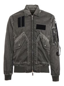 Dsquared2 - Faded effect nylon jacket in grey
