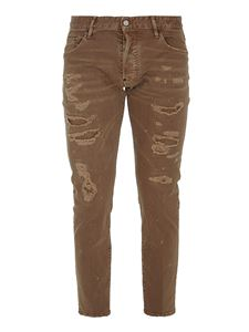 Dsquared2 - Destroyed effect straight-leg jeans in brown