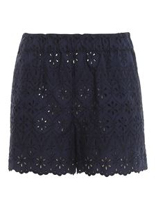 Parosh - Broderie anglaise shorts in blue