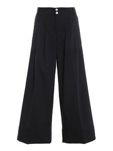 MYTHS - Cotton nylon blend pants in black