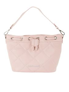 Ermanno Scervino - Quilted faux leather bucket bag in pink