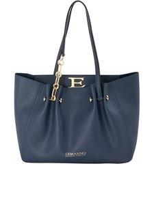 Ermanno Scervino - Pebbled faux leather tote in blue