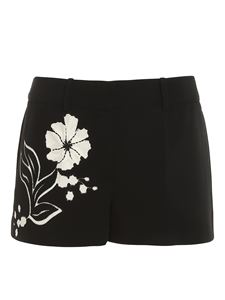 Ermanno Scervino - Floral embroidery shorts in black