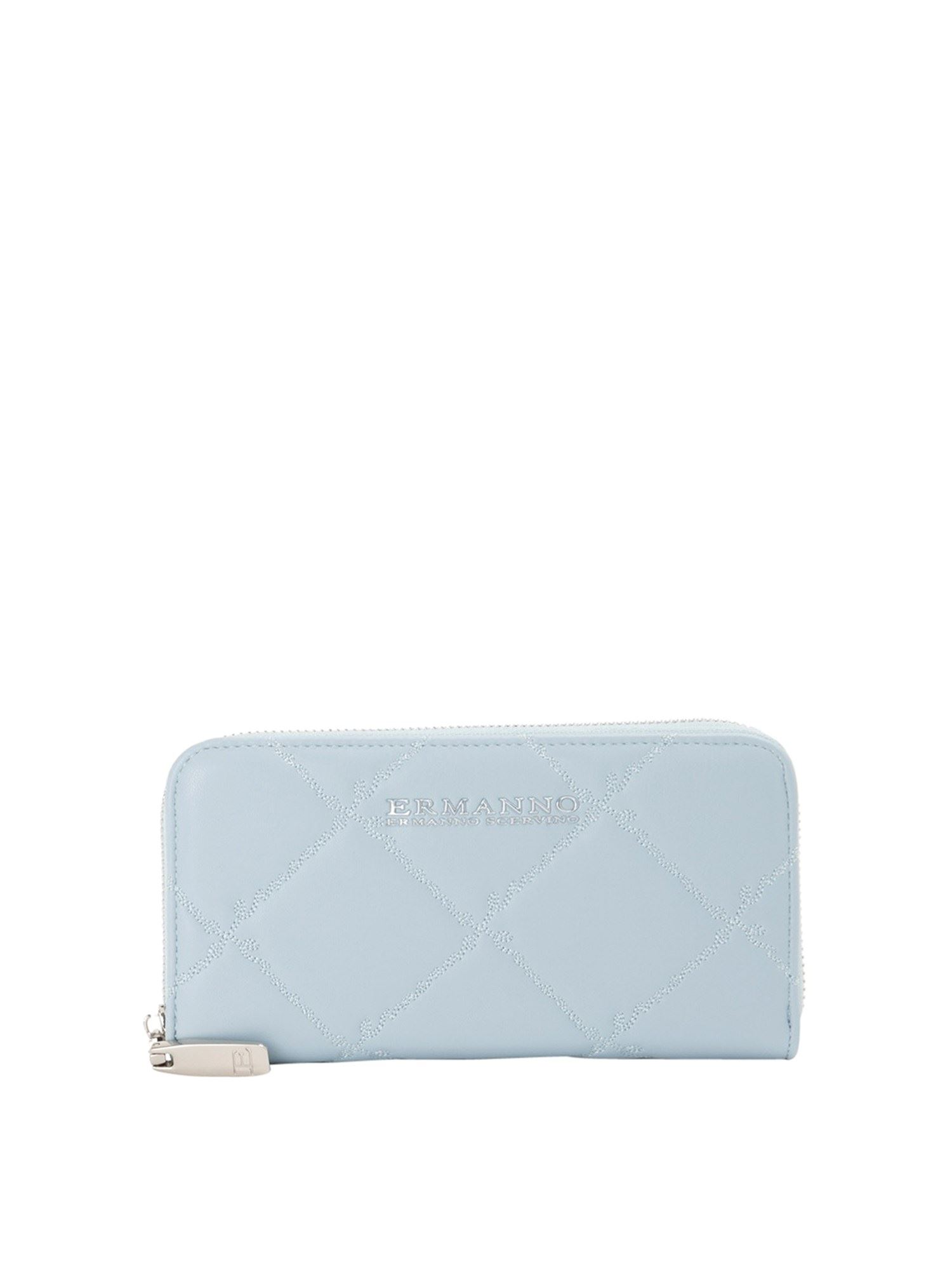 Ermanno Scervino FAUX LEATHER WALLET IN LIGHT BLUE