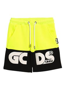 GCDS - Bermuda shorts in neon yellow