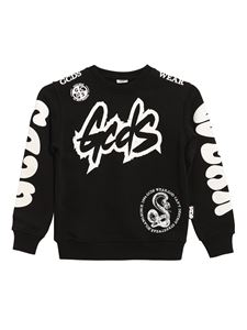 GCDS - Logo printed sweatshirt in black