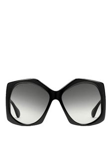 Gucci - Geometric-shaped sunglasses in black