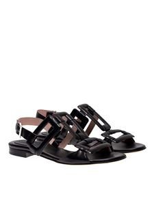 Anna F. - Buckle sandals in black
