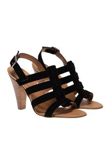 Anna F. - Suede sandals in black