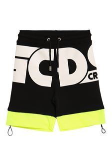 GCDS - Branded bermuda shorts in black