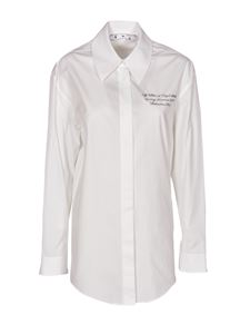 Off-White - Embroidery shirt in white