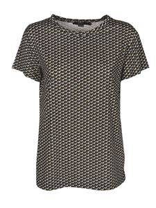 Seventy - Printed T-shirt in black and cream satin