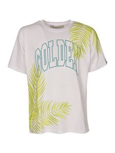 Golden Goose - Logo embroidered leaves t-shirt in white