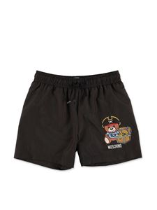 Moschino Kids - Pirate Teddy Bear swim short in black