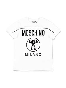 Moschino Kids - Double Question T-shirt in white