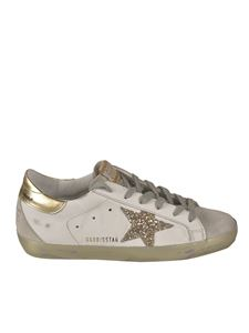 Golden Goose - Gold-colored details sneakers in white