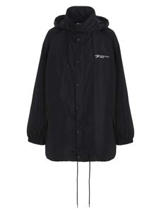Balenciaga - Logo printed nylon jacket in black