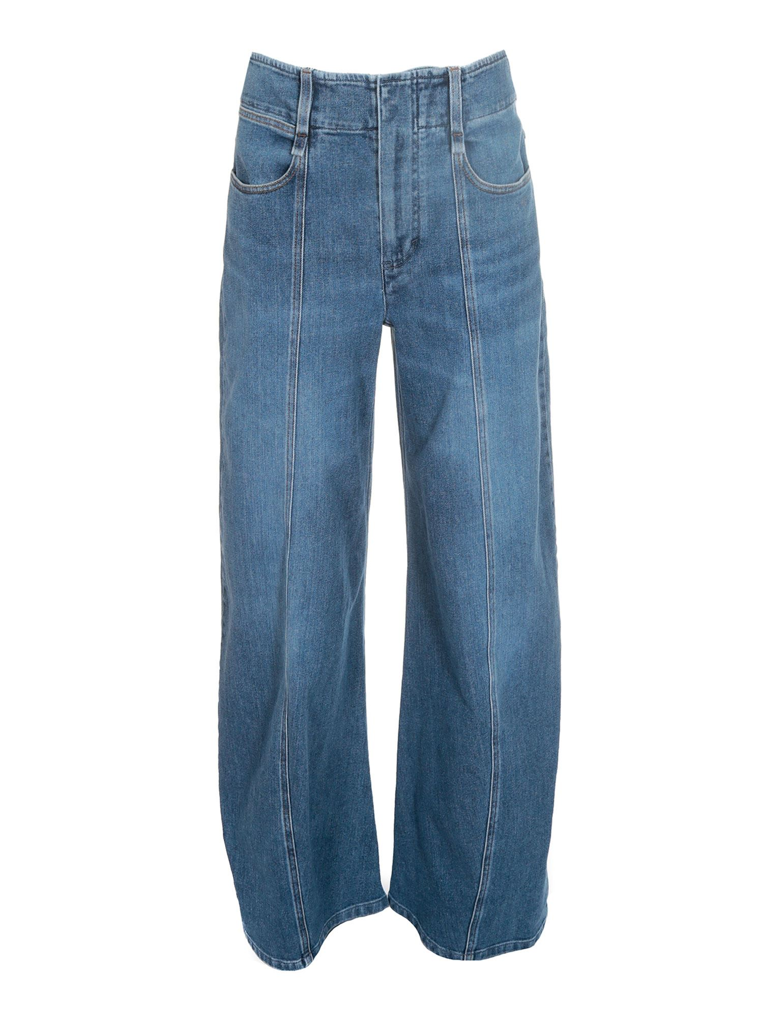 Chloé Cottons WIDE JEANS IN BLUE