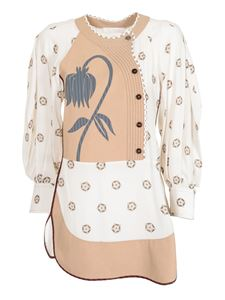 Chloé - Flower Dot blouse in beige