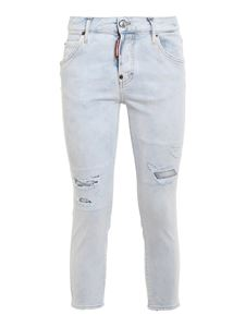 Dsquared2 - Cool Girl cropped jeans in light blue