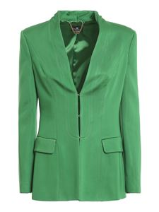 Elisabetta Franchi - Viscose blend blazer in green