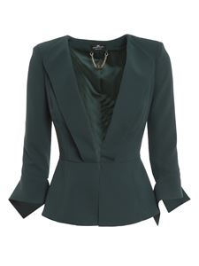 Elisabetta Franchi - Waisted blazer in green