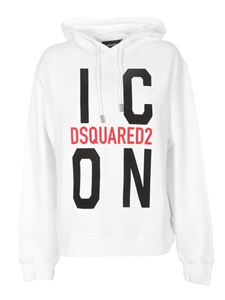 Dsquared2 - Icon hoodie in white