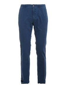 SLOWEAR Incotex - Cotton pants in blue