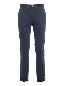 SLOWEAR Incotex - Army cotton pants in blue
