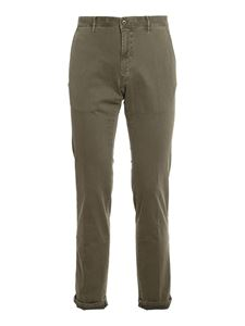 SLOWEAR Incotex - Army cotton pants in green