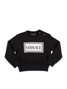 Versace Young - Logo sweatshirt in black