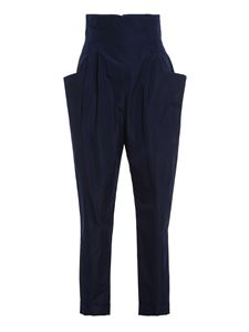 Philosophy di Lorenzo Serafini - Ruffled high waist pants in blue