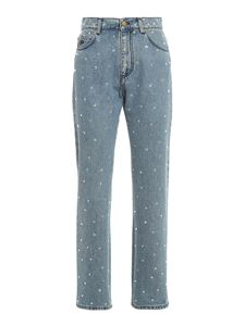Philosophy di Lorenzo Serafini - Rhinestones high waist jeans in blue