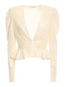 Philosophy di Lorenzo Serafini - Sequin jacket in cream color