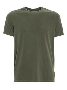 Majestic Filatures - T-shirt in jersey stretch verde