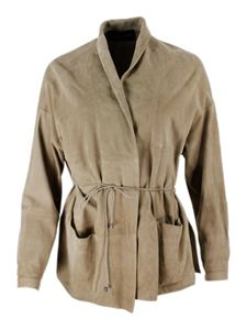 Fabiana Filippi - Suede jacket in beige