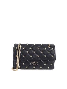 Gaelle Paris - Metal logo shoulder bag in black