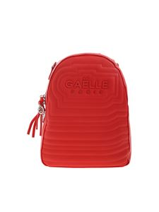 Gaelle Paris - Logo backpack in red